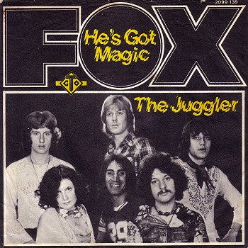 The band Fox with lead singer Noosha on the cover of the recording He's Got magic