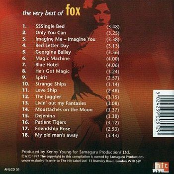 Noosha Fox on the back cover of the album - the very best of Fox